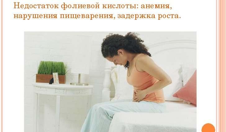 Причины дефицита фолиевой кислоты у беременны