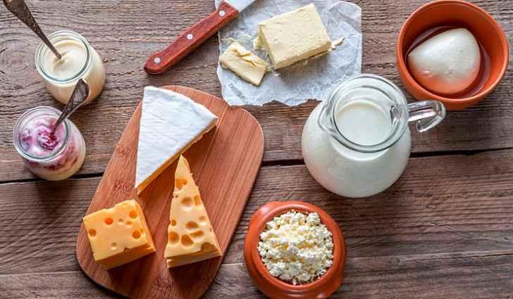 Содержание кальция в порциях выбранных молочных продуктов