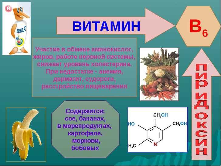 Витамин B-6 защищает нервную систему