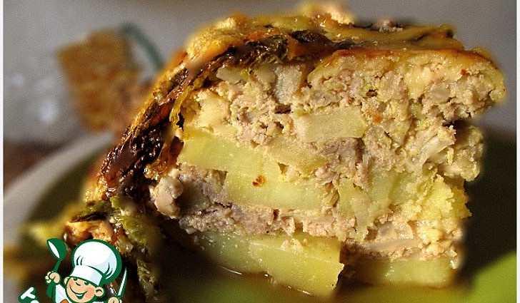 Мясная запеканка с савойской капустой