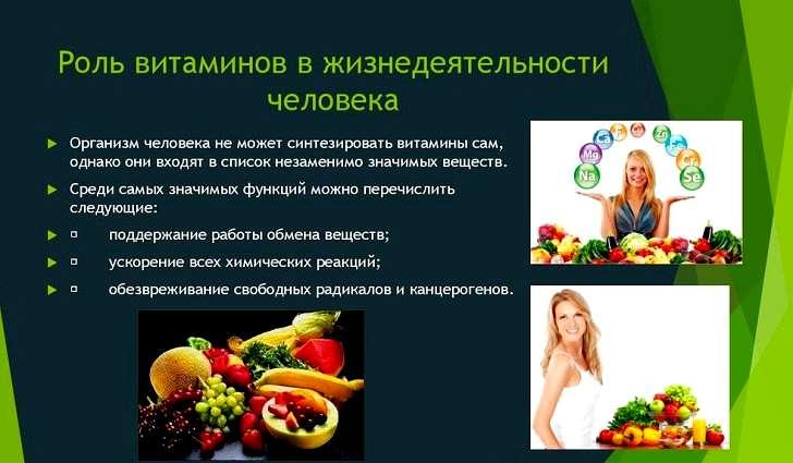 Какую роль играют витамины в организме человека