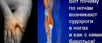 Причины судорог в ногах в ночное время у пожилых людей