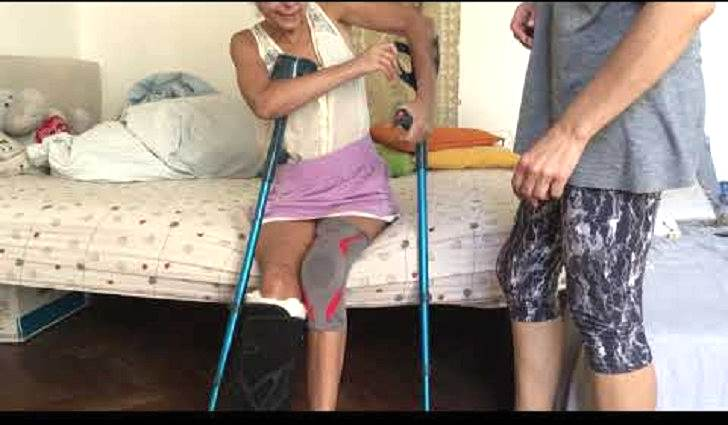 КРОВАТЬ - КАК ТРЕНАЖЕР - гимнастика при переломе шейки бедра