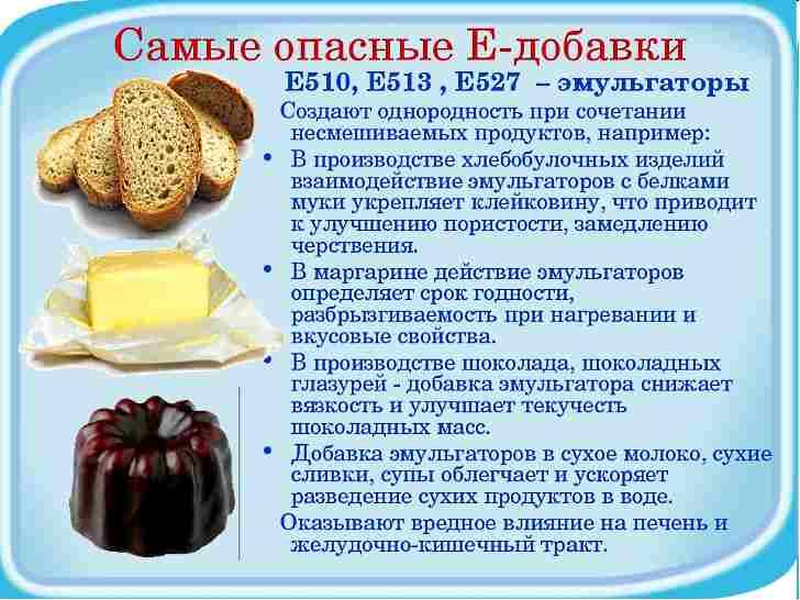 Наиболее опасные пищевые добавки
