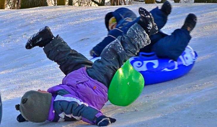 Травмы у детей зимой