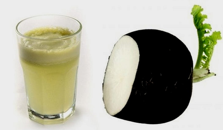 Сок черной редьки со спиртом