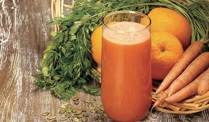 Чеснок с морковным соком от стоматита