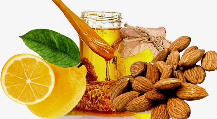Мед, лимон и миндаль в рецепте лечения тахикардии